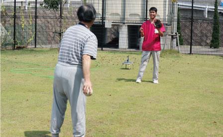 〈運動療法〉キャッチボール
